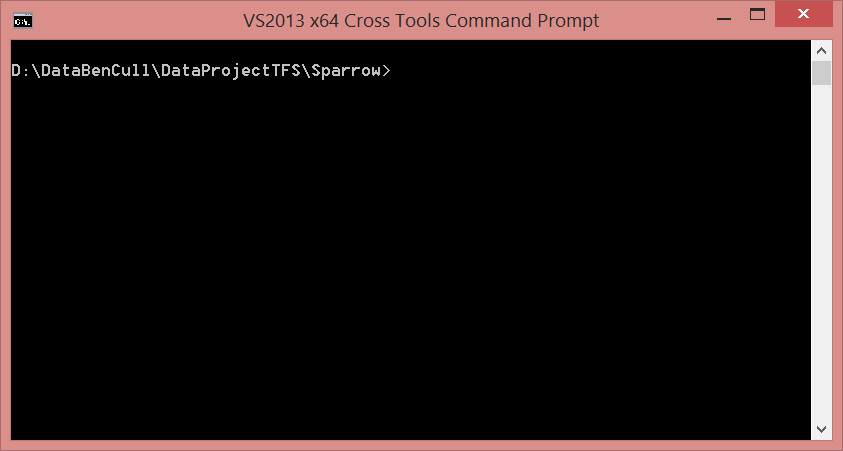 Empty Command Prompt