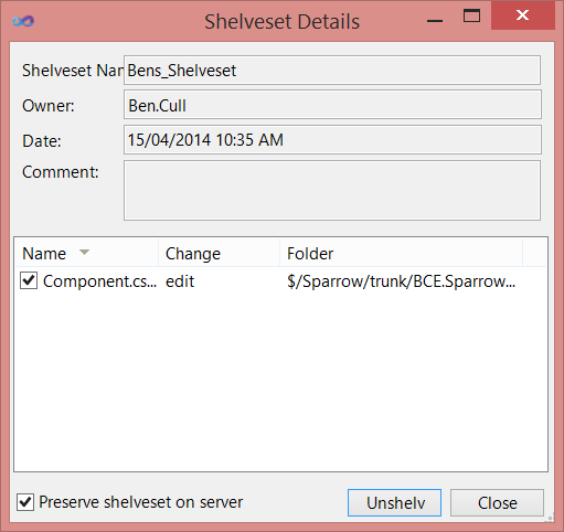 Move Shelveset to a Different Branch in TFS